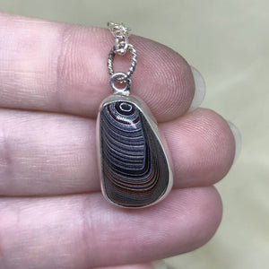 Unusual Pattern Detroit Fordite Necklace