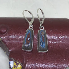 blah2 Corvette Fordite Dangle Earrings