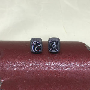 Dainty Detroit Fordite Stud Earrings