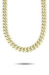 13MM CURVED DIAMOND CUBAN LINK CHAIN *NEW