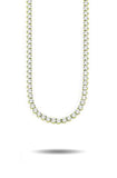 4MM DIAMOND 3-PRONGED TENNIS CHAIN IN GOLD *NEW*