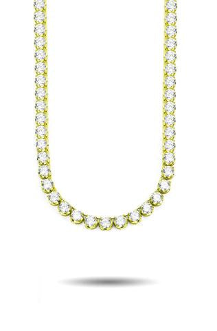 6MM DIAMOND BUTTERCUP TENNIS CHAIN IN GOLD *NEW*.