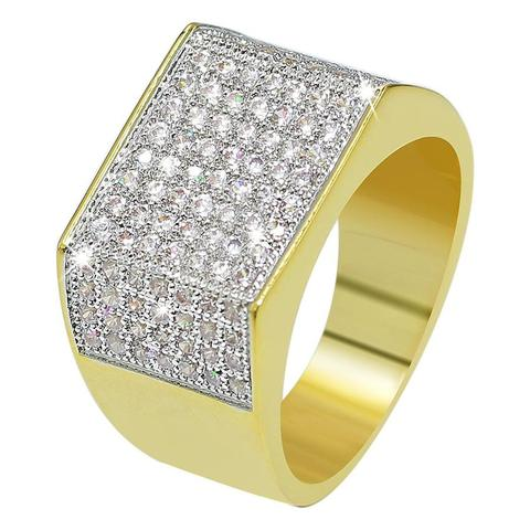 18K LAB DIAMOND SIGNET RING