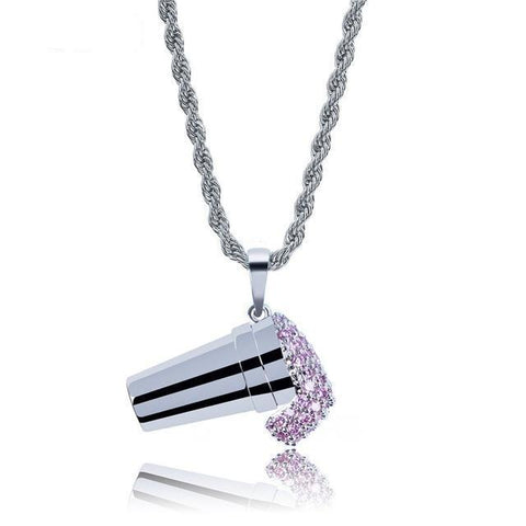 MICRO DIAMOND CREAM NECKLACE (GOLD OR SILVER) *NEW*