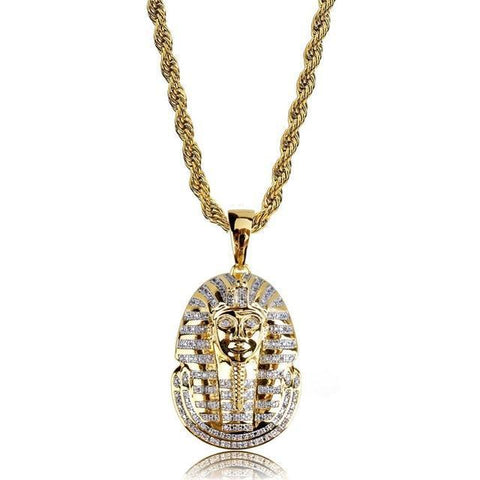 MICRO DIAMOND PHARAOH NECKLACE