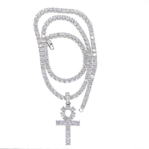 AA+ ANKH // TENNIS CHAIN IN WHITEGOLD *BUNDLE DEAL*