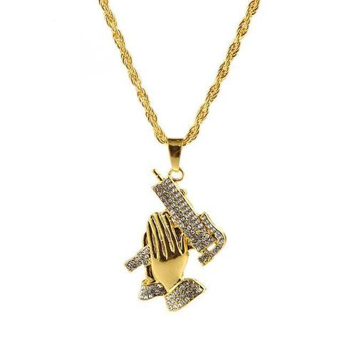 Nostalgic Praying Hands Necklace