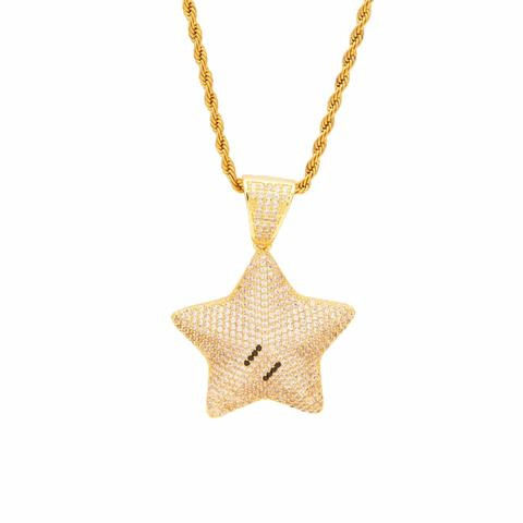 Micro Diamond Paved Star Necklace