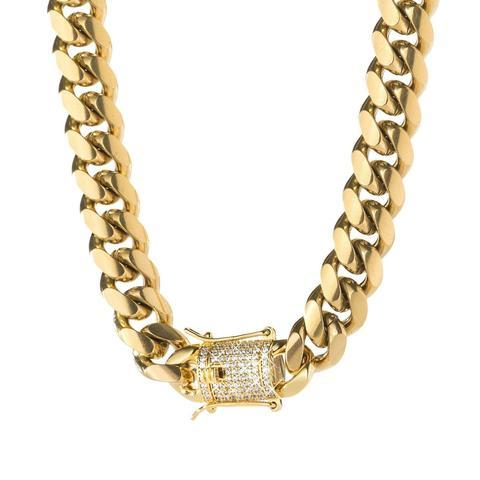 CUBAN LINK W/ MICRO DIAMOND CLASP *NEW*
