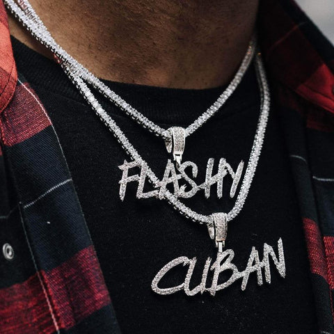 Custom Paint Font Name Necklace