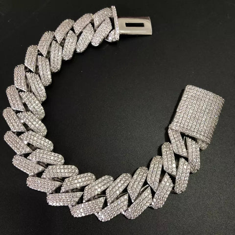 Prong Set Cuban Bracelet *NEW*