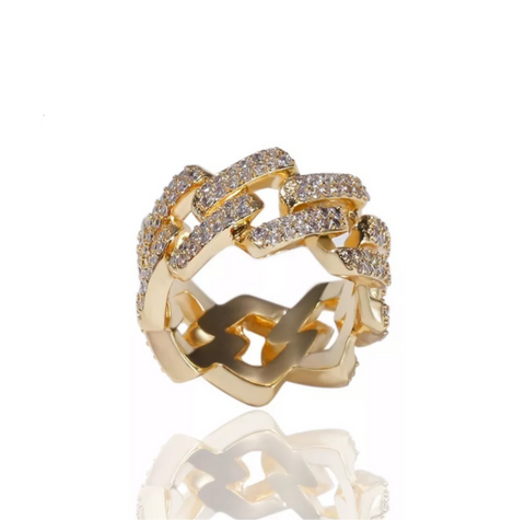 DIAMOND CUBAN RING *NEW*