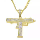 MICRO DIAMOND UZI NECKLACE