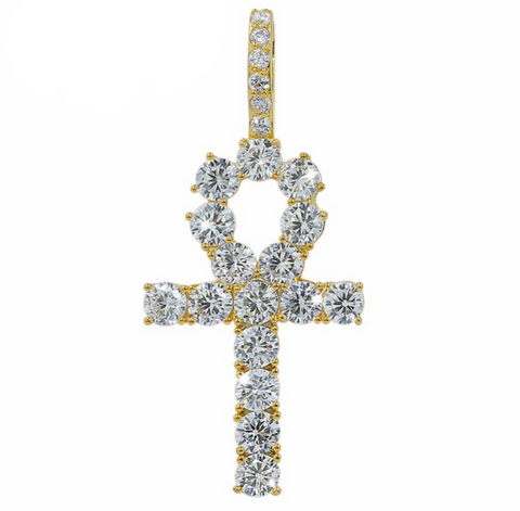 MICRO DIAMOND ANKH NECKLACE