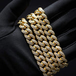 12MM CURVED DIAMOND CUBAN LINK CHAIN *NEW