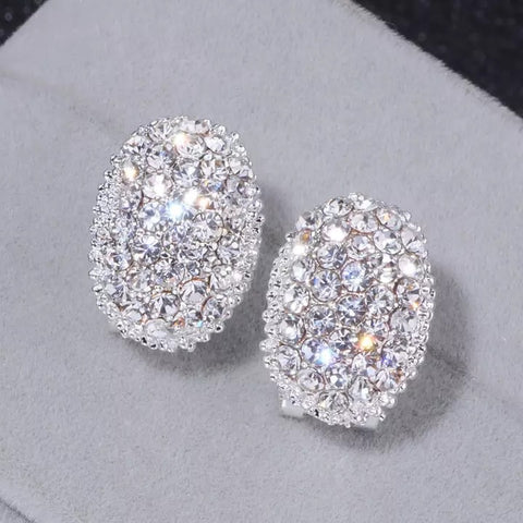 Multi Diamond White Gold Earrings