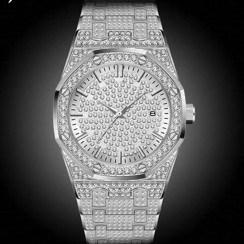 Designer Philipe Time Piece In White Gold *NEW*