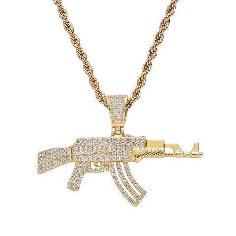 PAVED DIAMOND AK NECKLACE *NEW*