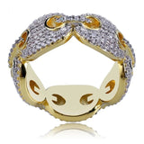 MICRO DIAMOND LINK RING *NEW*