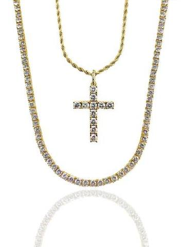 DIAMOND TENNIS // CROSS SET - GOLD *NEW*
