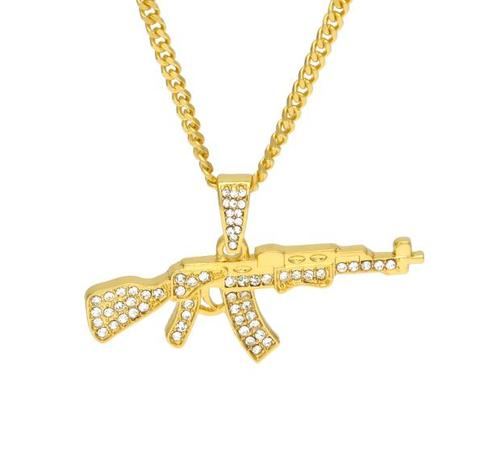 MICRO DIAMOND AK 47 NECKLACE