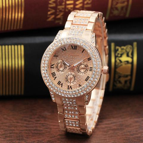 MICRO DIAMOND GOLD WATCH