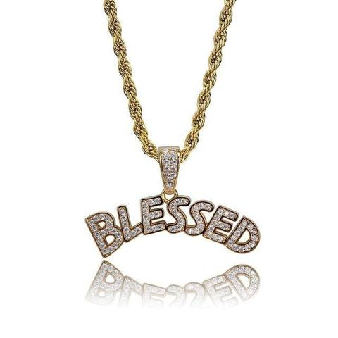 Blessed Necklace Iced Out