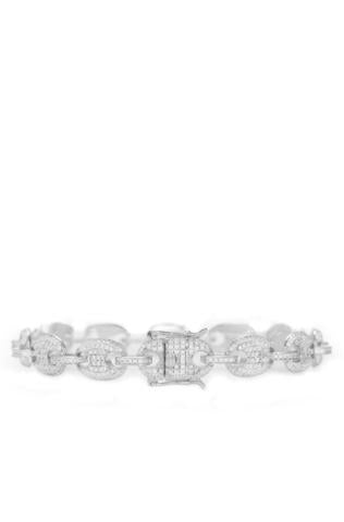 DIAMOND LINK BRACELET IN WHITE GOLD *NEW*