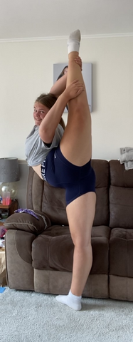 Cheerleader doing stretching excercises