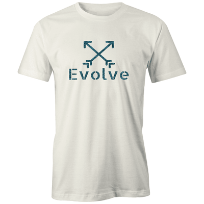 Evolve Tribal Logo Organic Tee - Evolve Travel Goods Adventure Towel - Sustainable, Made From Recycled Plastic and Sand Free