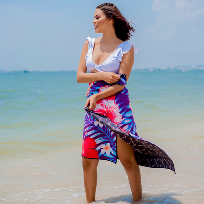 Maui (Purple) - Evolve Travel Goods Adventure Towel - Sustainable, Made From Recycled Plastic and Sand Free