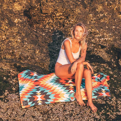 Zanzibar - Evolve Travel Goods Adventure Towel - Sustainable, Made From Recycled Plastic and Sand Free