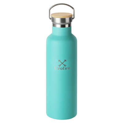 EVOLVE Insulated Stainless Steel Water Bottle 750ml - Evolve Travel Goods Adventure Towel - Sustainable, Made From Recycled Plastic and Sand Free