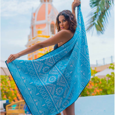 Fiji - Evolve Travel Goods Adventure Towel - Sustainable, Made From Recycled Plastic and Sand Free