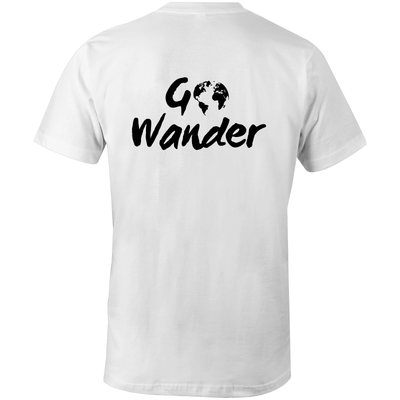 Go Wander Organic Tee - Evolve Travel Goods Adventure Towel - Sustainable, Made From Recycled Plastic and Sand Free