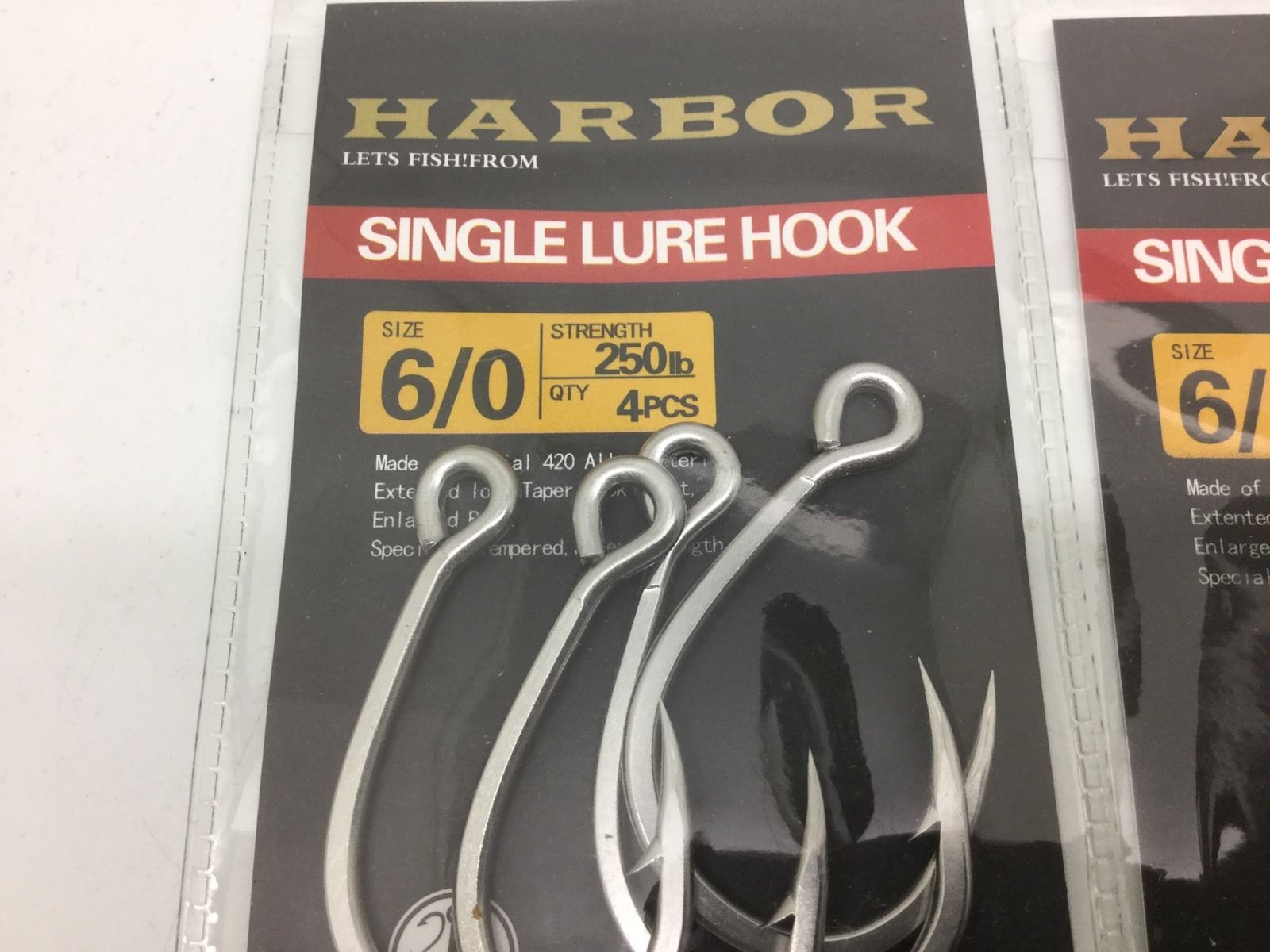 Hooks harbor Straight Eye 6/0 Replacements For Rapala Hardbodys 8 Inch