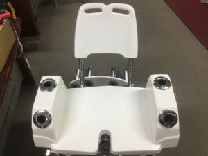 Boat seat base pedestal aluminium adjustable 300mm base footprint