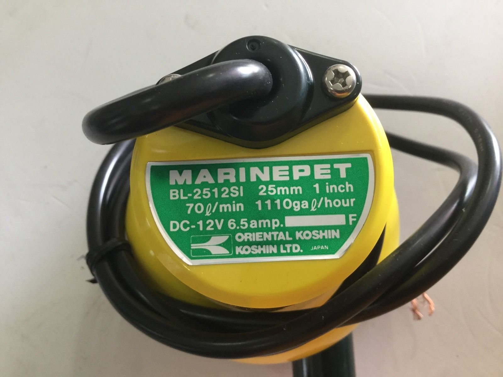 Bilge Pump Koshin Marine Pet 1100 Gal Made In Japan