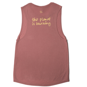 "Ilana Glazer ""Fuck! The Planet is Burning"" Tank back"