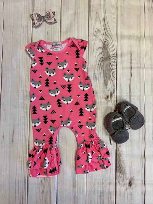 Pink Forest Romper