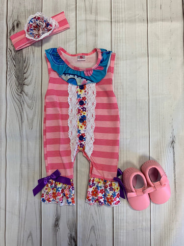 Pink Romper with Headband