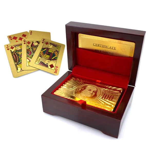 24k Gold Plated Playing Cards - with Certificate