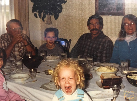 screaming child at thanksgiving