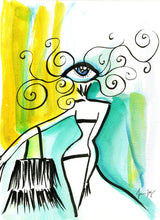 Dancing in the Sun - Artwork with colorful Eye in Boho Chic - Eyes of Fashion by Talia Zoref