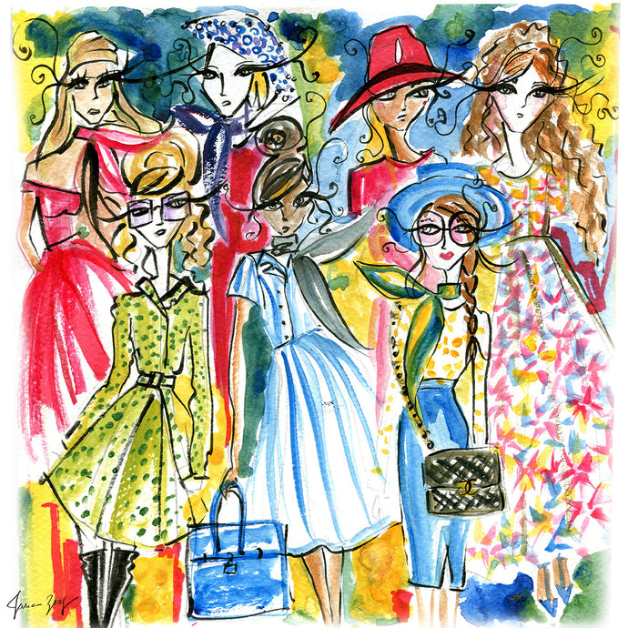 Women of the Riviera - Fashion Illustration by Talia Zoref