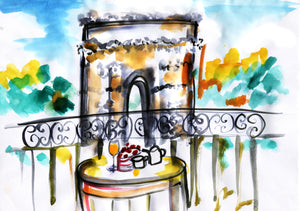 Arc de Triomphe – A Room with a View - A Travel Painting by Talia Zoref