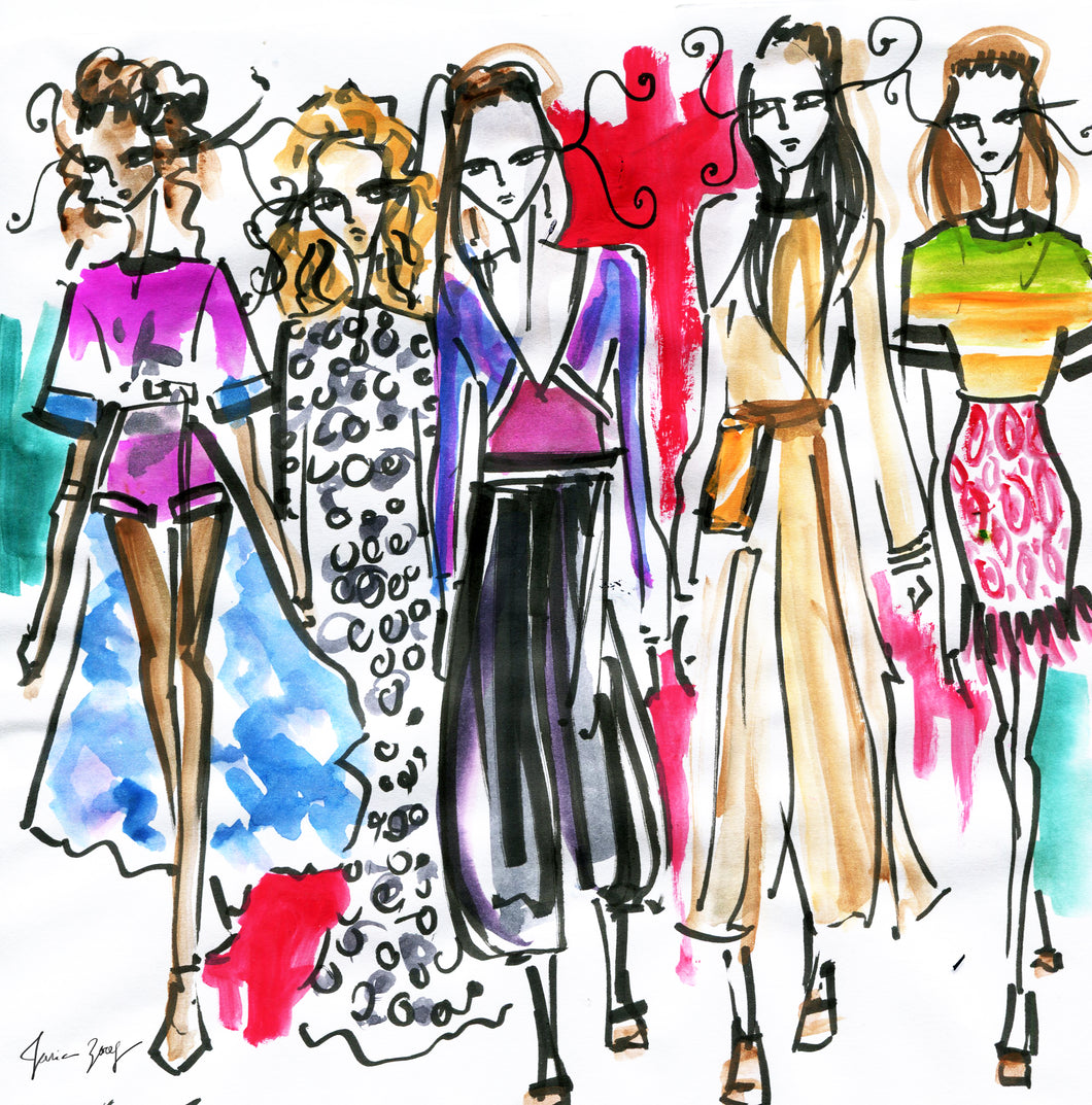 Chloe - Spring Summer Collection 2019 - Fashion Illustration by Talia Zoref