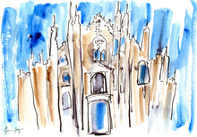 Doumo Di Milano – A Travel Painting by Talia Zoref