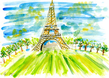 Eiffel Tower in the Summer – A Travel Painting by Talia Zoref