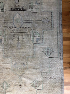 Hande, vintage Turkish runner, 3.8' x 10.4'